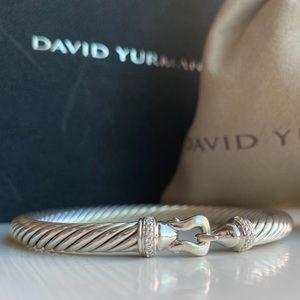 David Yurman 5mm Diamond Buckle Bracelet